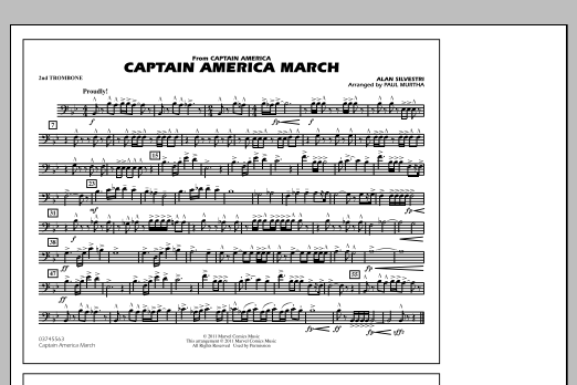 Captain America March - 2nd Trombone (Marching Band)