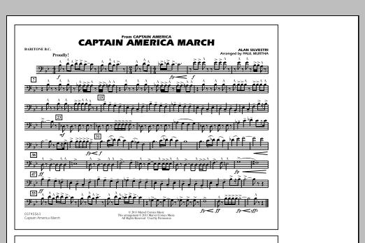 Captain America March - Baritone B.C. (Marching Band)