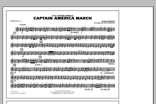 Captain America March - Baritone T.C. (Marching Band)