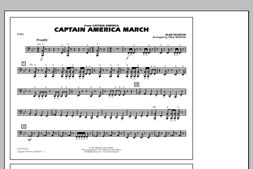 Captain America March - Tuba (Marching Band)