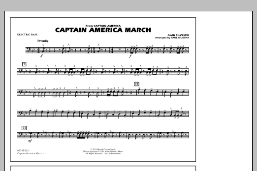 Captain America March - Electric Bass (Marching Band)