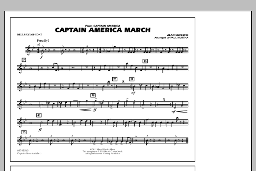 Captain America March - Bells/Xylophone (Marching Band)