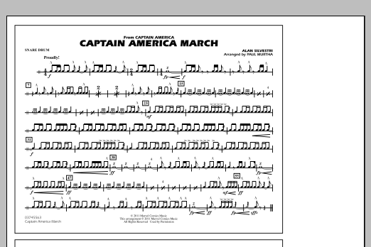 Captain America March - Snare Drum (Marching Band)