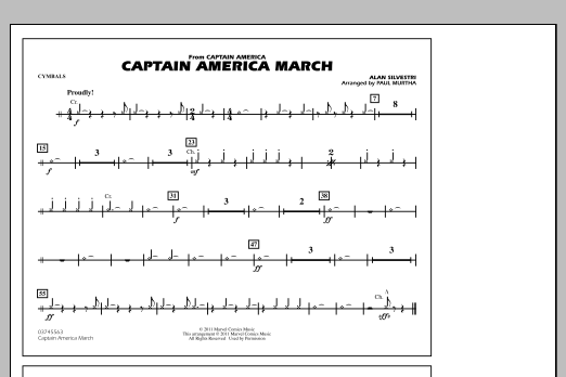 Captain America March - Cymbals (Marching Band)
