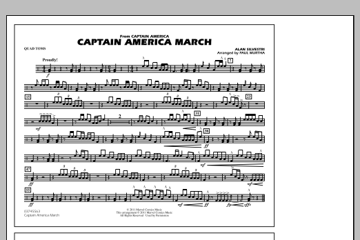 Captain America March - Quad Toms (Marching Band)