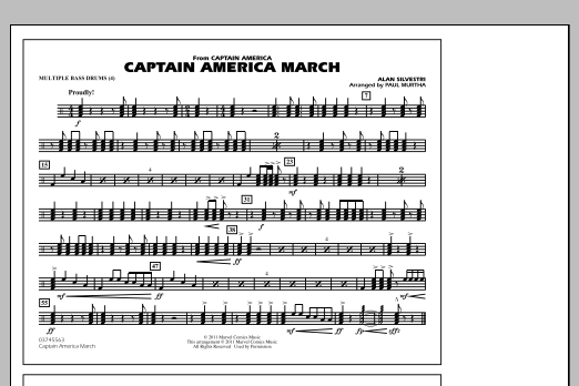 Captain America March - Multiple Bass Drums (Marching Band)