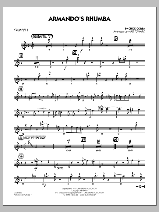 Armando's Rhumba - Trumpet 1 Partituras Digitales