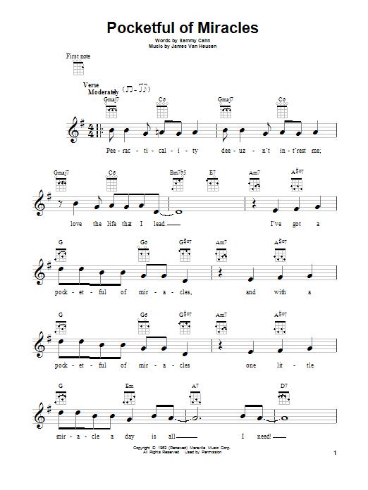 Pocketful Of Miracles By Frank Sinatra Ukulele Guitar Instructor