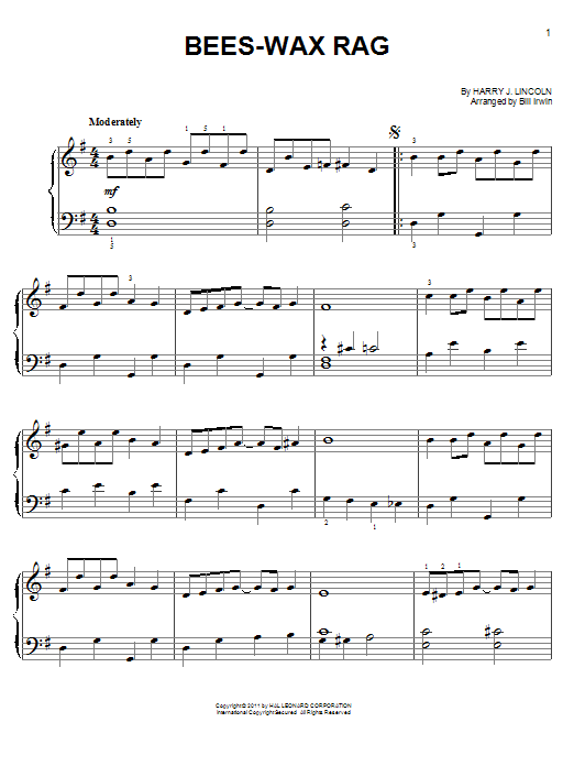 Bees-Wax Rag Sheet Music
