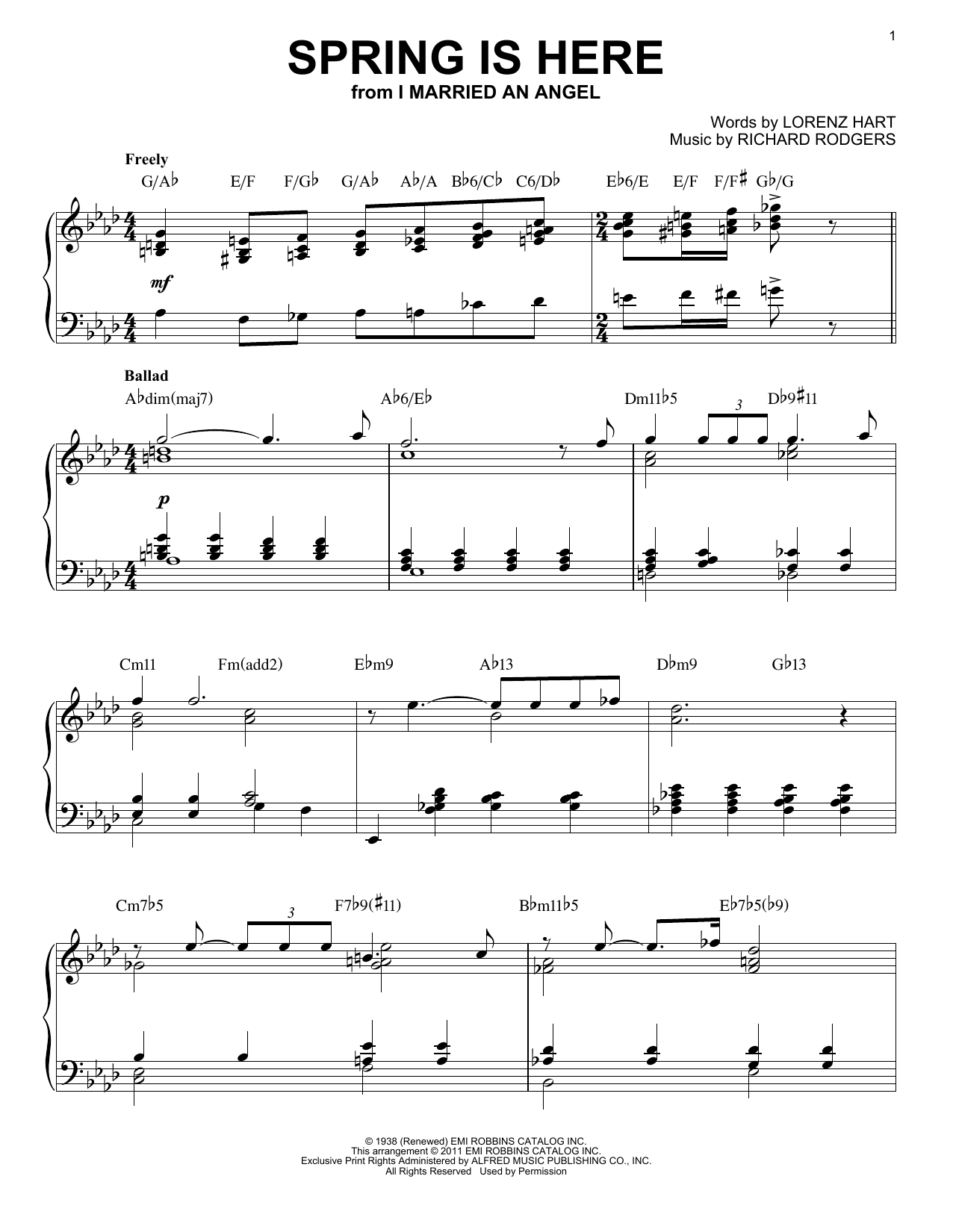 Spring Is Here Sheet Music