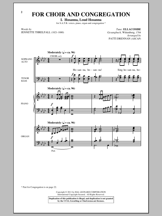 For Choir And Congregation, Volume 2 Sheet Music