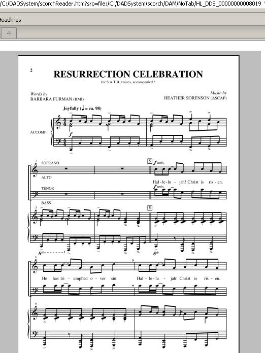 Resurrection Celebration Sheet Music
