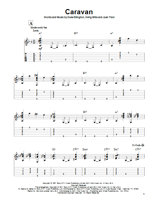 Caravan Sheet Music To Download