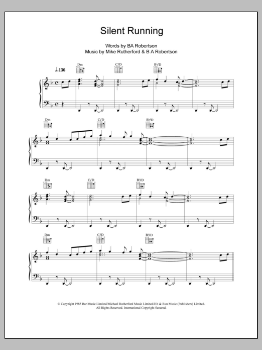 Silent Running Sheet Music