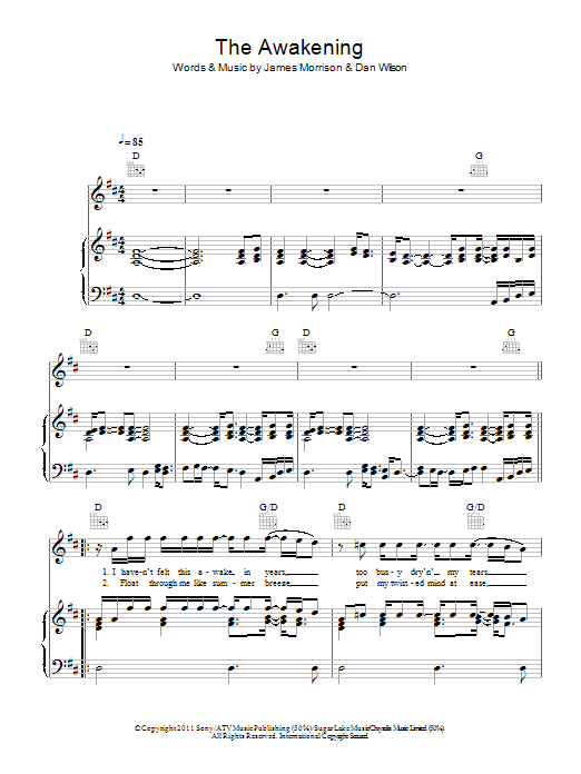 The Awakening Sheet Music