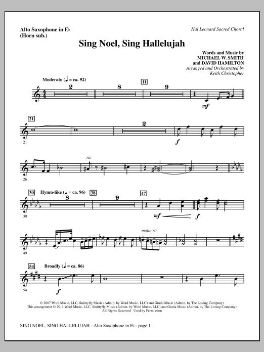 Sing Noel, Sing Hallelujah - Alto Sax (sub. Horn) Sheet Music