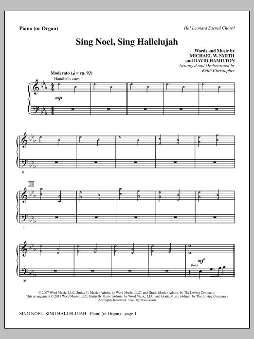 Sing Noel, Sing Hallelujah - Piano or Organ (Choir Instrumental Pak)