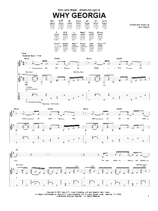 Why Georgia Sheet Music