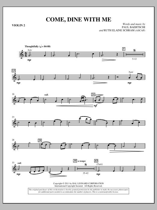 Come, Dine With Me - Violin 2 (Choir Instrumental Pak)