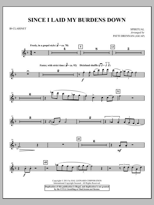 Since I Laid My Burdens Down - Clarinet (Choir Instrumental Pak)