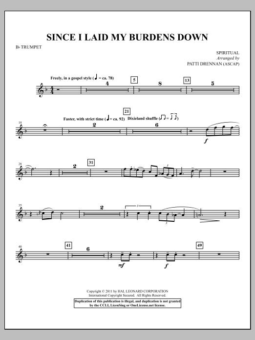 Since I Laid My Burdens Down - Bb Trumpet (Choir Instrumental Pak)