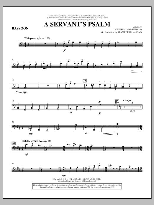 A Servant's Psalm - Bassoon (Choir Instrumental Pak)