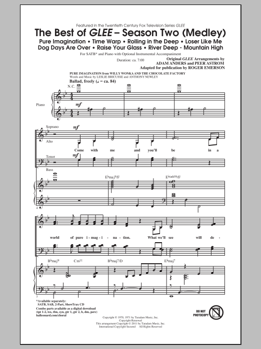 The Best Of Glee (Season Two Medley) (arr. Roger Emerson) Sheet Music