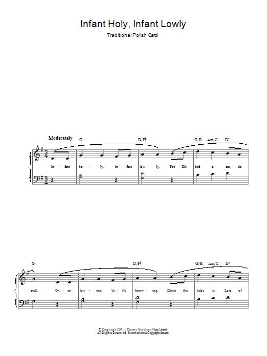Infant Holy, Infant Lowly Sheet Music