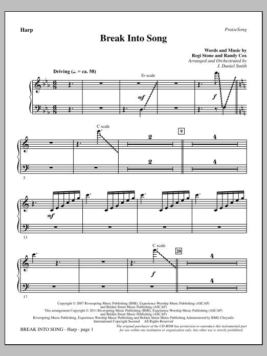 Break Into Song - Harp Sheet Music