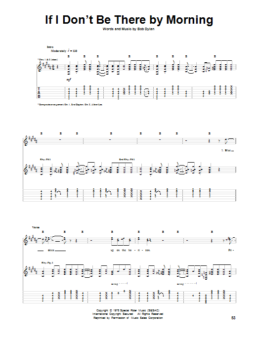 If I Don't Be There By Morning (Guitar Tab)