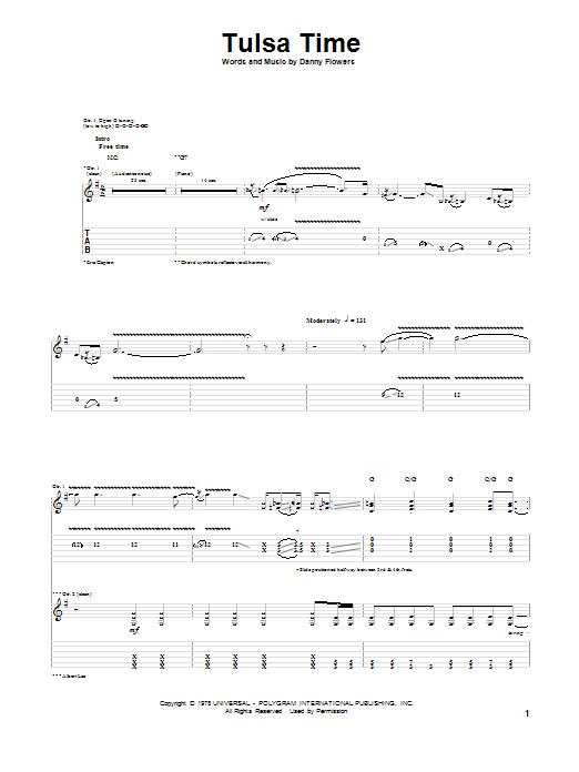 Tulsa Time Sheet Music