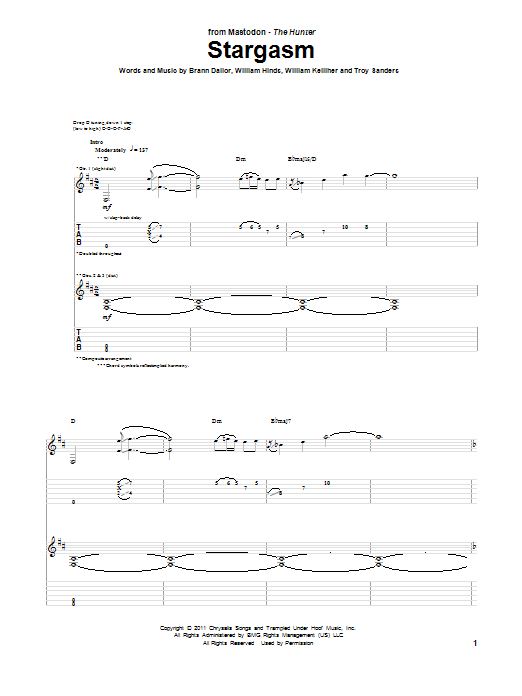 Stargasm Sheet Music