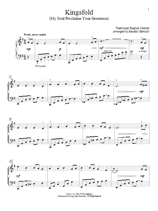 Kingsfold (My Soul Proclaims Your Greatness) Sheet Music