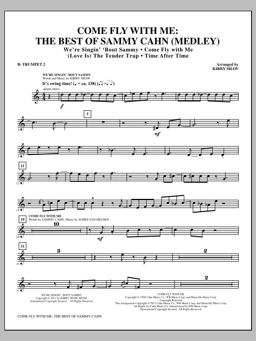 Come Fly With Me: The Best Of Sammy Cahn - Bb Trumpet 2 (Choir Instrumental Pak)