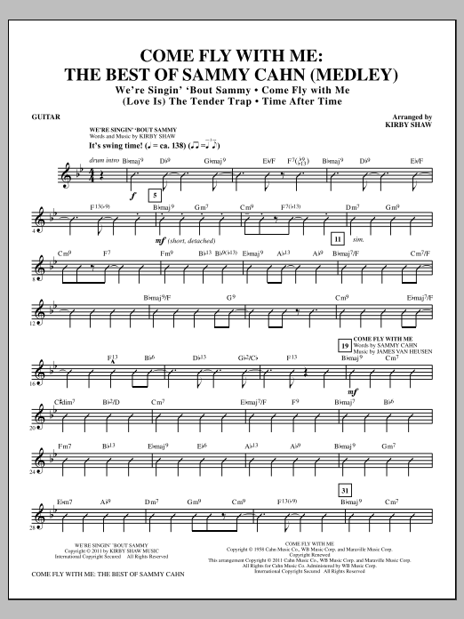 Come Fly With Me: The Best Of Sammy Cahn - Guitar (Choir Instrumental Pak)