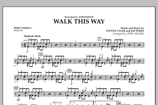 Walk This Way - Percussion 1 (Orchestra)