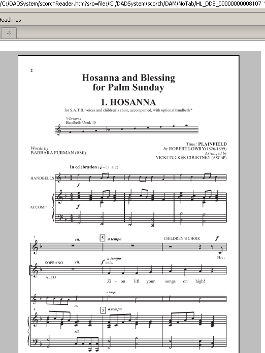 Blessing Sheet Music