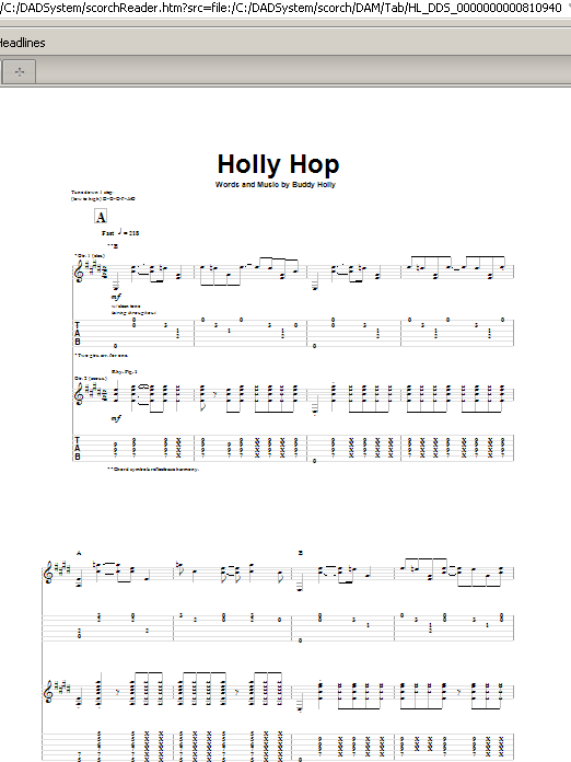 Holly Hop Sheet Music