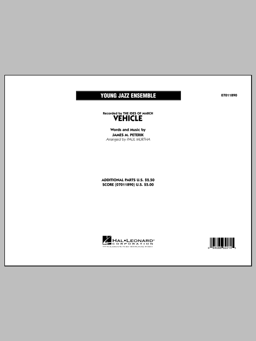 Vehicle (COMPLETE) sheet music for jazz band by Paul Murtha and Jim Peterik. Score Image Preview.