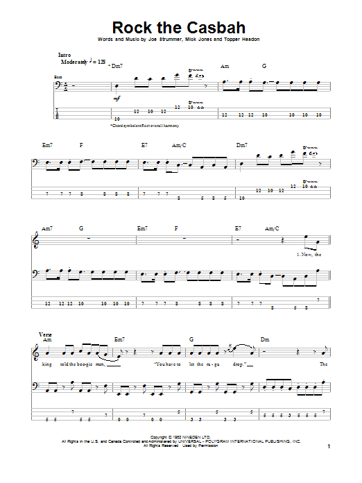 Rock The Casbah Sheet Music