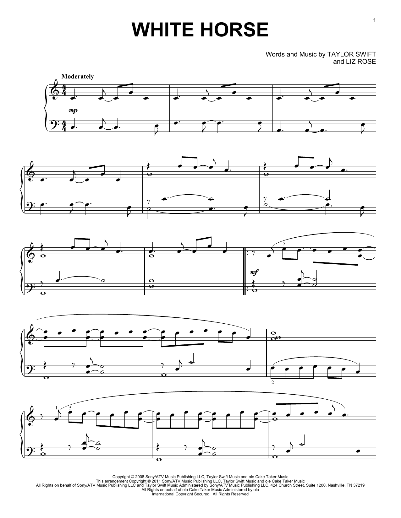 Teardrops On My Guitar By Liz Rose Taylor Swift Hal Leonard