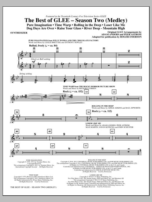 The Best Of Glee (Season Two Medley) - Synthesizer (Choir Instrumental Pak)