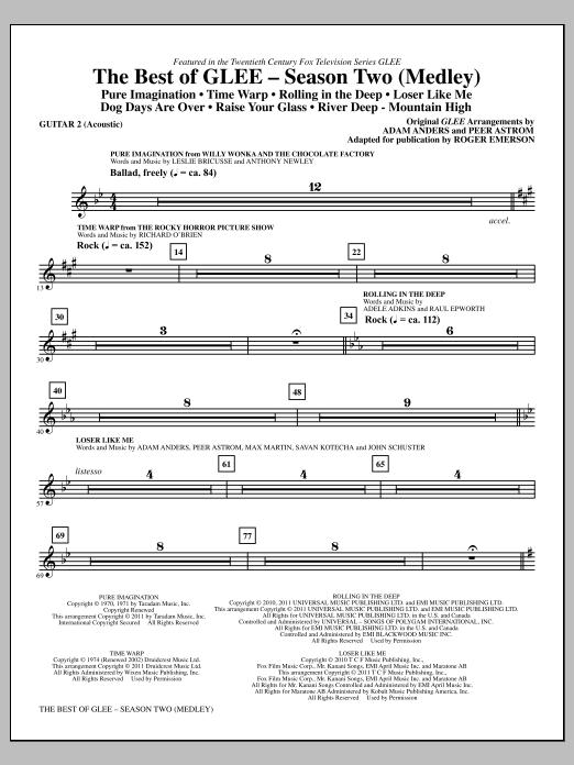 The Best Of Glee (Season Two Medley) - Guitar 2 (Choir Instrumental Pak)