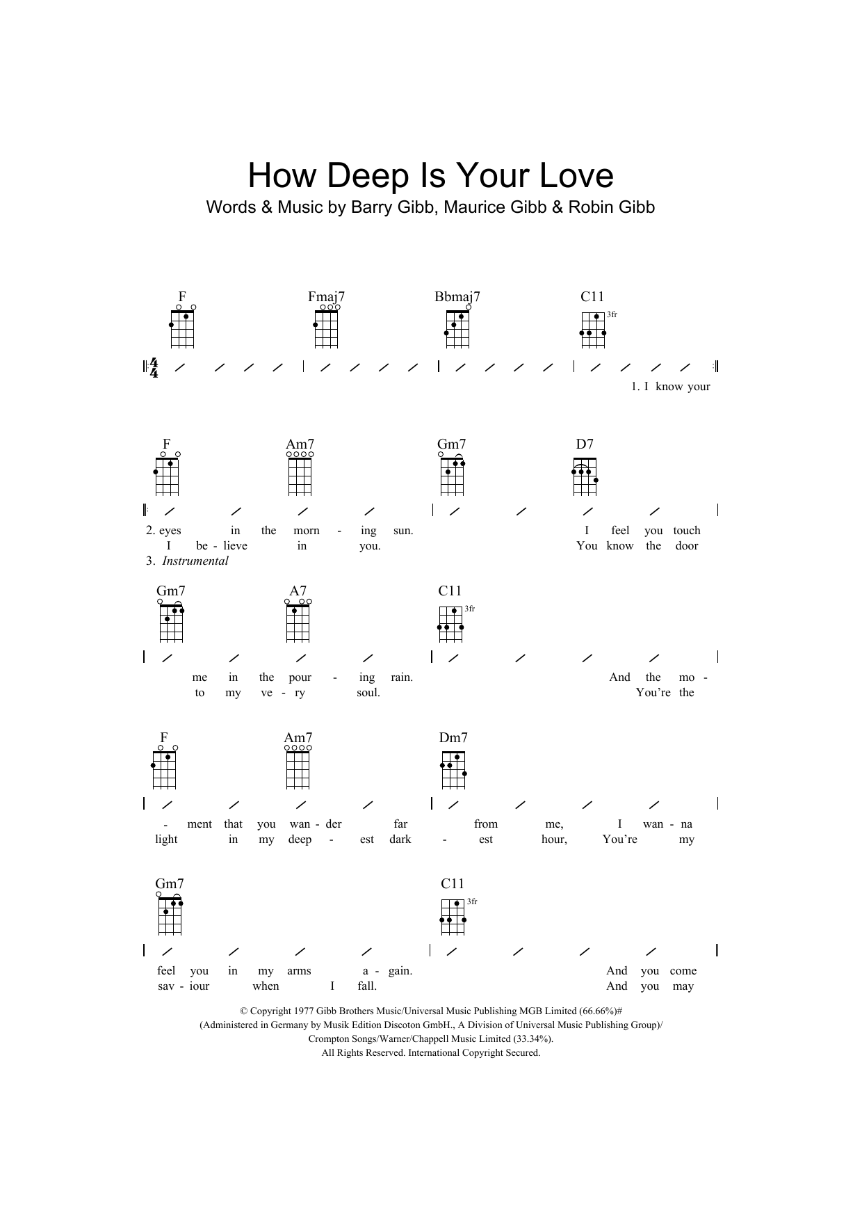 Guitar Guitar Chords Your Love Guitar Chords Your Love In Guitar