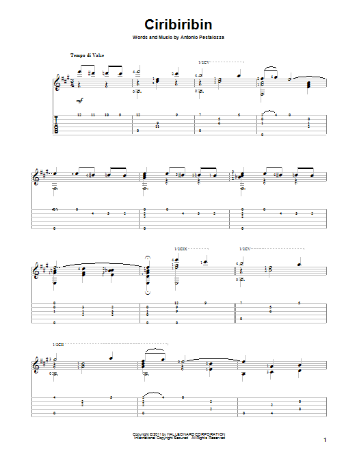 Ciribiribin Sheet Music