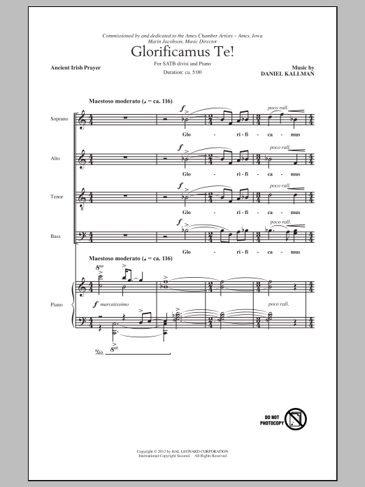 Glorificamus Te! Sheet Music
