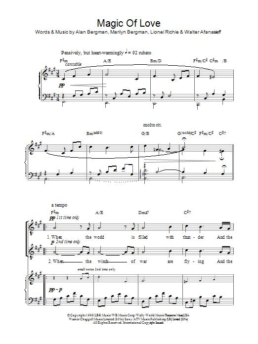 Magic Of Love (Piano, Vocal & Guitar)