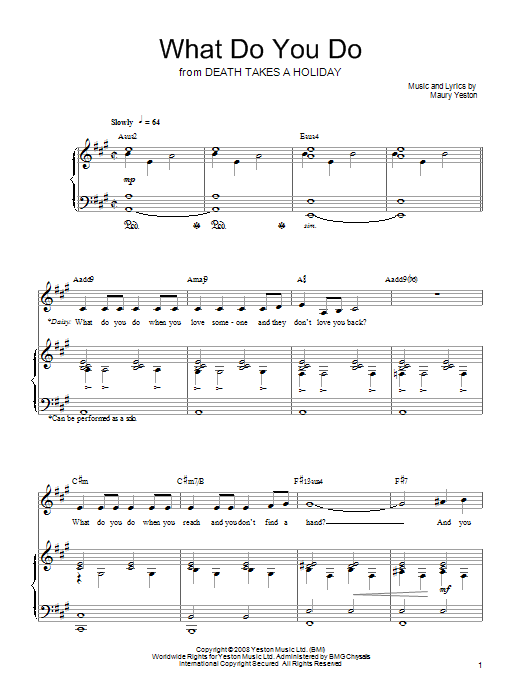 What Do You Do Sheet Music