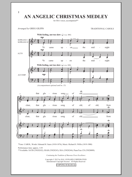 An Angelic Christmas Medley Sheet Music