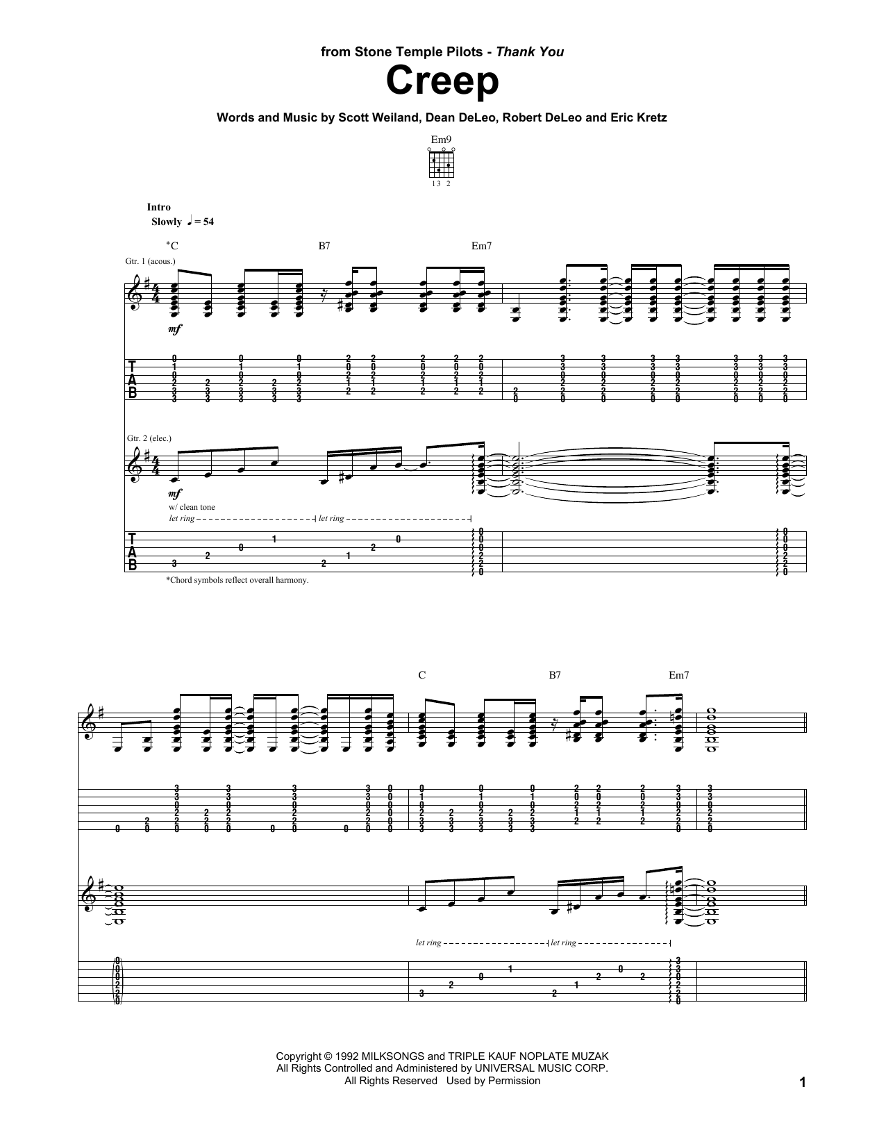 Creep | Sheet Music Direct